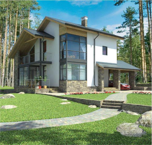 Casa de madera casas prefabricadas r 1386 area 165 m2 - Modelo casa prefabricada ...