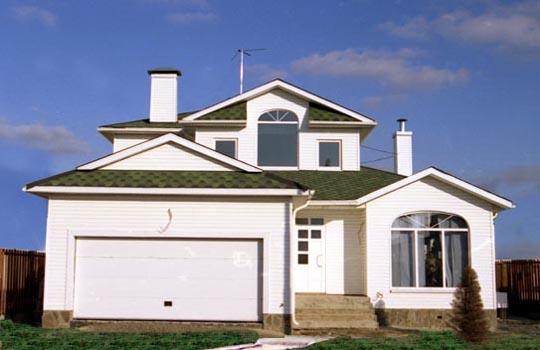 Revestimiento de casas prefabricadas monocapa en casas for Casas americanas fachadas