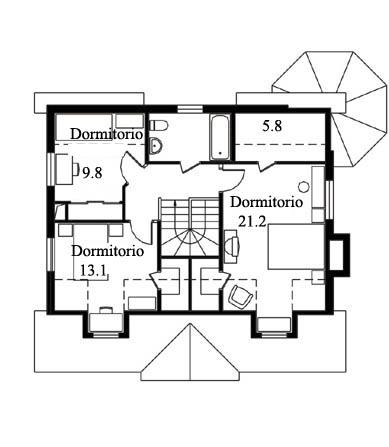 Casa de madera casas prefabricadas foto casa modelo alpina - Casas americanas planos ...
