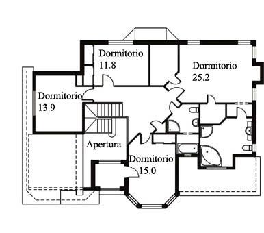 Casa de madera casas prefabricadas foto casa clave 262 6 m2 for Casas americanas planos