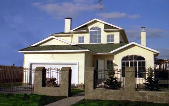 Casa de madera casas prefabricadas foto casa modelo 18 for Modelo de fachadas de viviendas