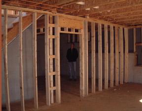 Casa de madera casas prefabricadas interior estructura - Estructura de madera para casas ...