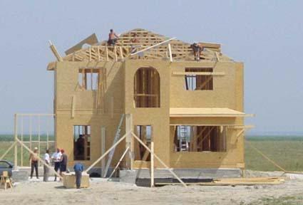 Construccion de casa de madera montaje de casas americanas for Casas americanas de madera