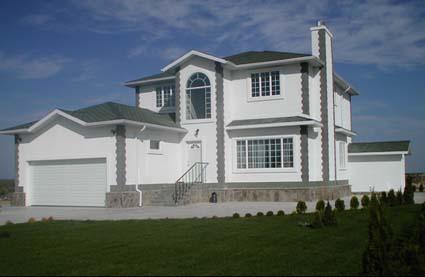 Construccion de casa de madera montaje de casas americanas - Casas americanas por dentro ...