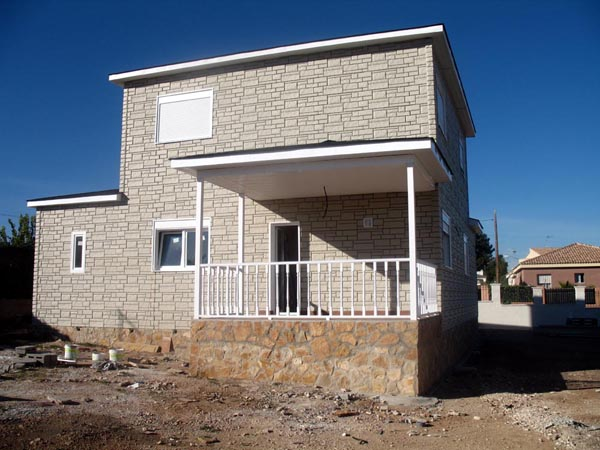 Casa de madera casas prefabricadas foto casa de madera for Casas prefabricadas piedra