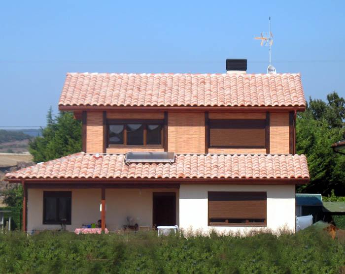 Casa de madera casas prefabricadas foto casa de madera for Casa para herramientas de pvc
