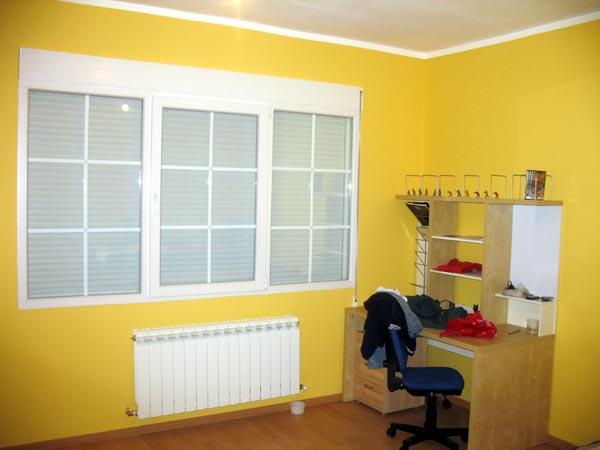 Casas prefabricadas acabado interior habitacion con ventana for Pinturas de casas interiores