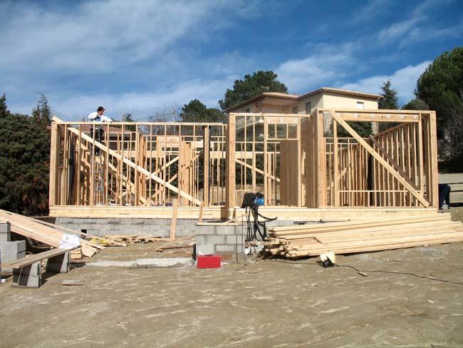 Estructura de madera casas prefabricadas con estructura - Casas estructura de madera ...